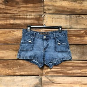 Mossimo size 9 blue jean shorts with pockets